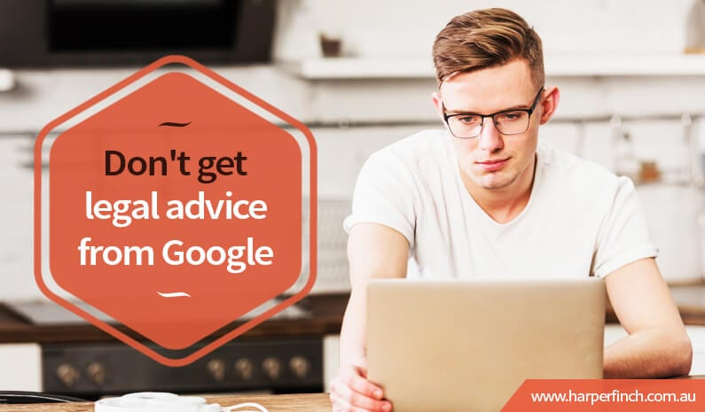 Don't get legal advice from Google