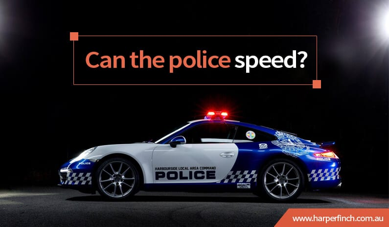 Are the Police allowed to Speed?